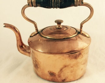 Antique Copper Tea Kettle From England