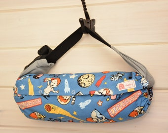 Baby Carrier Cover (Reversible) Rocket Age /Star Blue (Cosmic Boy)