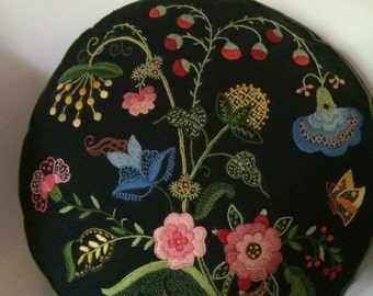 Scandinavian Style Hand Embroidered Vintage Decorative Pillow
