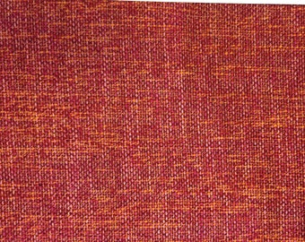 Raspberry Orange Woven Upholstery Fabric - Upholstery Fabric By The Yard
