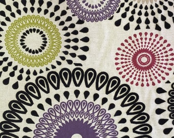 Modern - Ammethyst Flocked Suzani - Upholstery Fabric By The Yard