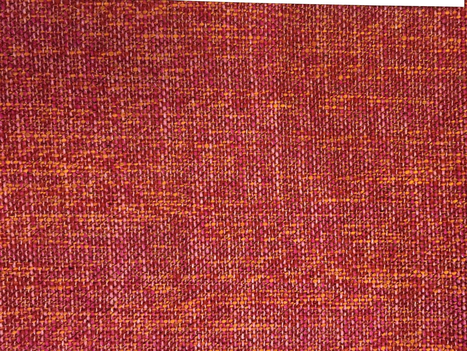 Raspberry Orange Woven Upholstery Fabric Upholstery Fabric