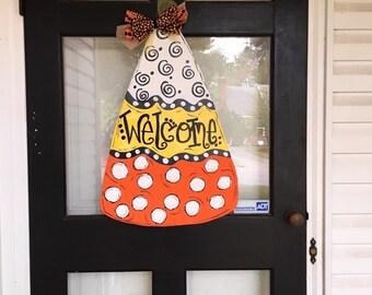 Wooden Candy Corn Door Hanger