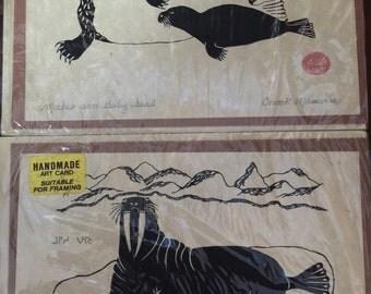 Enook Manomie Hand Made Art Cards