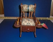 Vintage rocking chair Pincushion / Pincushion / Rocking chair / Vintage sewing / sewing / Vintage pincushion