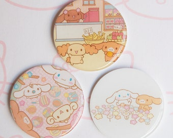 Pack of three Cinnamoroll and friends Brooches  |  シナモロール |