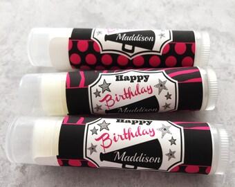 Cheerleading Gift - Set of 5 - Cheerleader Birthday Party - Cheer Team Party - Cheerleading Chapstick - Cheerleader Favors - Cheer Birthday