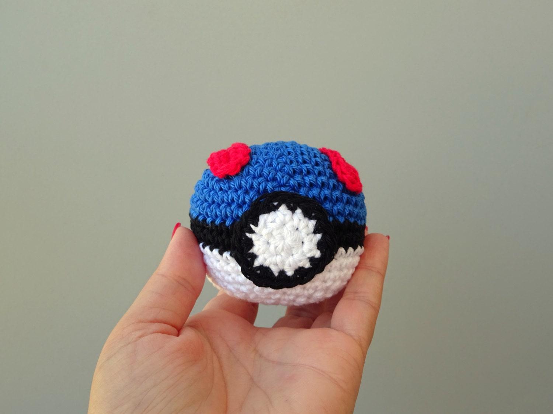 Amigurumi Ideal Sphere : Great pokeball amigurumi crochet ball soft toy