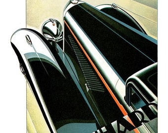 Panhard advert for Panhard Levassor X74 of 1933 reproduction