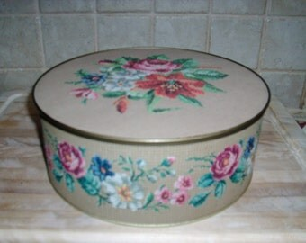 Vintage Guildcraft New York decorative metal container