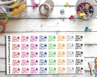 145 - Girls night out (40 - Matte Or Glossy Stickers), Planner Stickers, Girls night, Stickers, ECLP, Filofax, Plum Paper Planner