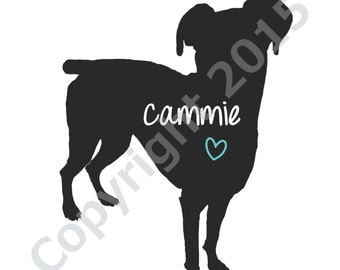 Personalized Pet (DOG) Silhouette **Physical Print**
