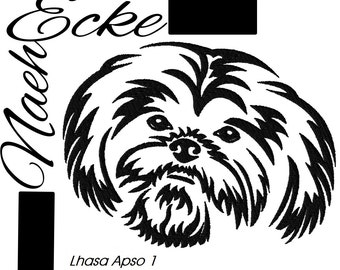 Embroidery Lhasa Apso