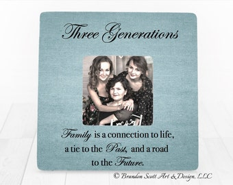 three generations picture frame three generations four generations mothers day gift for grandma great grandma grandparents
