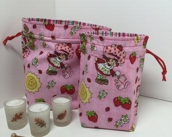 Tiny Drawstring Bag - Strawberry Shortcake