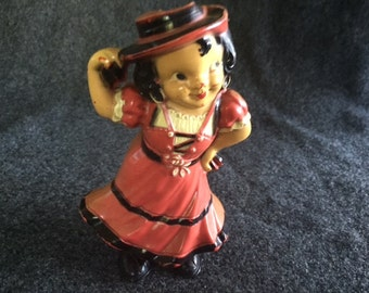 Rare vintage celluloid Irwin wind-up Flamenco dancer