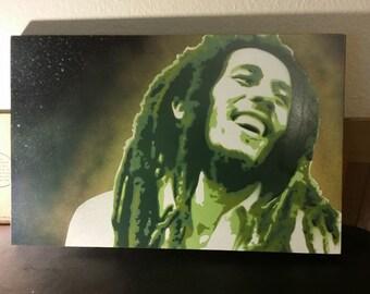 Bob Marley Aerosol Painting