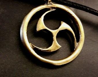 "Okinawan Karate   ""Tomoe in Circle""  Kenpo in Bronze"