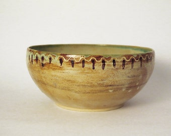 Handmade Large Ceramic Serving Bowl, Wheel Thrown Ceramic Bowl, Handmade Pottery Bowl