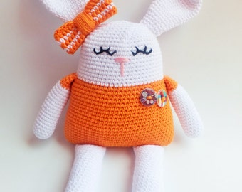 Handmade crochet amigurumi bunny rabbit - READY TO SHIP -
