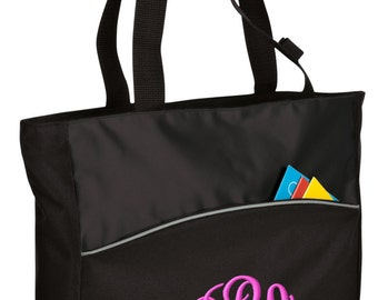 Personalized Tote Bag Embroidered Tote Bag Custom Tote Bag - Sports - Monogram - B1510