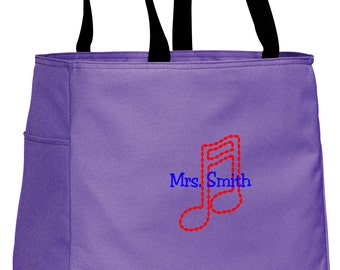 Personalized Tote Bag Embroidered Tote Bag Custom Tote Bag - Sports - Music - B0750