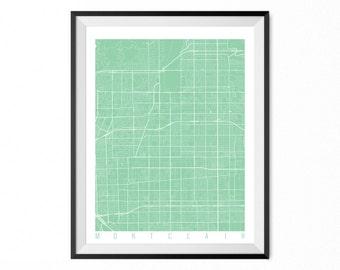 Montclair etsy montclair map art print montclair city poster montclair wall art california gift negle Images