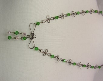 Wire & Beeds Necklace by Handmade