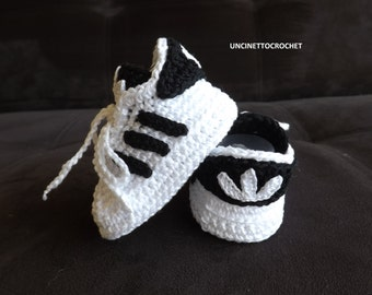 ADIDAS PATTERN SUPERSTAR Baby crochet adidas -newborn sneakers- booties-baby crochet shoes-baby girl-baby boy, Pdf Pattern, baby shower
