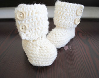 Crochet Baby Ankle Boots