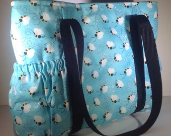 Honey Bee tote bag, Bumble bee tote bag, bumblebee purse, bee diaper bag, honeybee carry on, lucky bee bag, gift for her, buzz bee bag