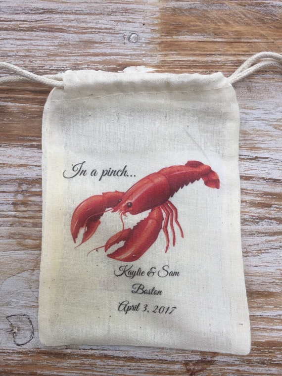 Wedding Gift Bags Nz : Lobster favor bags, In a pinch wedding essentials bags, Boston wedding ...