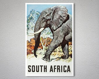 South Africa Vintage Travel Poster - Art Print - Poster Print, Sticker or Canvas Print