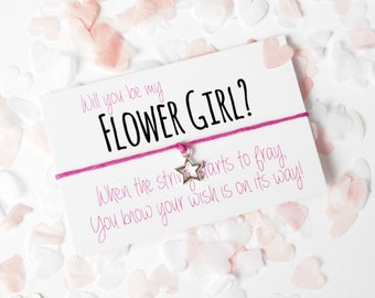 SALE - Will you be my Flower Girl - Will you be my Flowergirl - Flower Girl Bracelet - Flower Girl - Flower Girl Gift - Flower Girl Charm