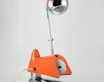 Vintage Space Age Hamilton Industries Orange Desk Lamp Model 2510