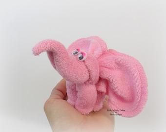 3 CT. Washcloth Elephant, Elephant Diaper Cake, Washcloth Animal, Safari Baby Shower, Jungle Baby Shower, Washcloth animal,