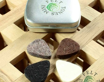 Felt Tones Mini Tin of 4 Ukulele Picks