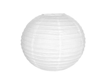 "12"" White Paper Lantern RPL120082 Just Artifacts Brand - Paper Lanterns for Weddings, Parties, & Home Decor"