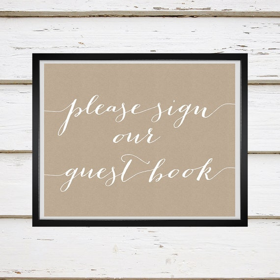 Avery Printable Guest Book Sign by MellieBellieBoutique on ...
