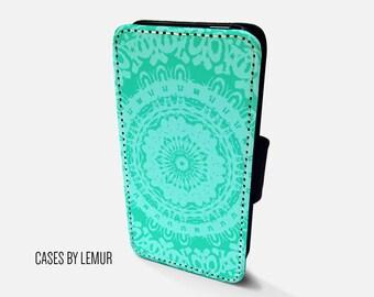 MANDALA Iphone 6 Wallet Case Leather Iphone 6 Case Leather Iphone 6 Flip Case Iphone 6 Leather Wallet Case Iphone 6 Leather Sleeve Cover