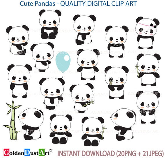 30% OFF Cute Panda Clip Art Panda Clip ArtPanda by ...
