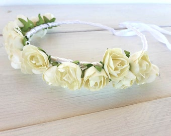 Hair crown, flower crown, floral wreath, pink and white blossom,baby bridal accessory, flower for hair