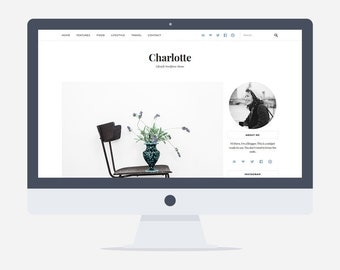 80% OFF - Charlotte - Lifestyle Wordpress Theme - Premade - Self Hosted - Wordpress Blog Theme - Responsive