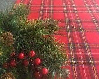 Classic Christmas Tartan Plaid Table Runner