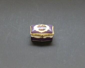 Czechoslovakia Jewel Porcelain Box
