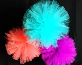 Extra Large Tulle Pom Poms|Pom Poms|Tulle|Nursery Decorations|Party Decorations|Wedding Decorations|