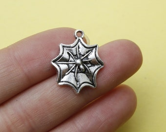 Spider charms 18 x 21 mm antique silver tone, Pendant 18*21mm