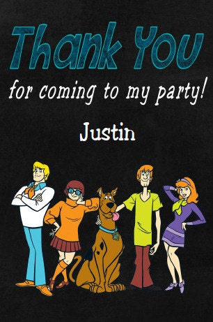 Scooby Doo Thank You Card Thank You Note Thank You Funpartysupply