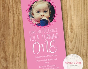 Personalised Baby Boy Girl First Birthday Invitations