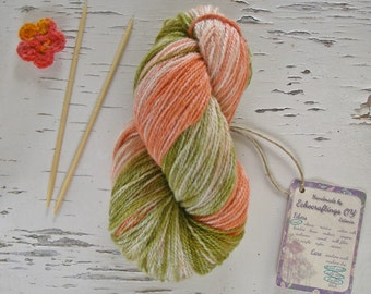 Long color change yarn, Ombre sheep wool yarn, Colored sport weight yarn, unique 5 ply yarn